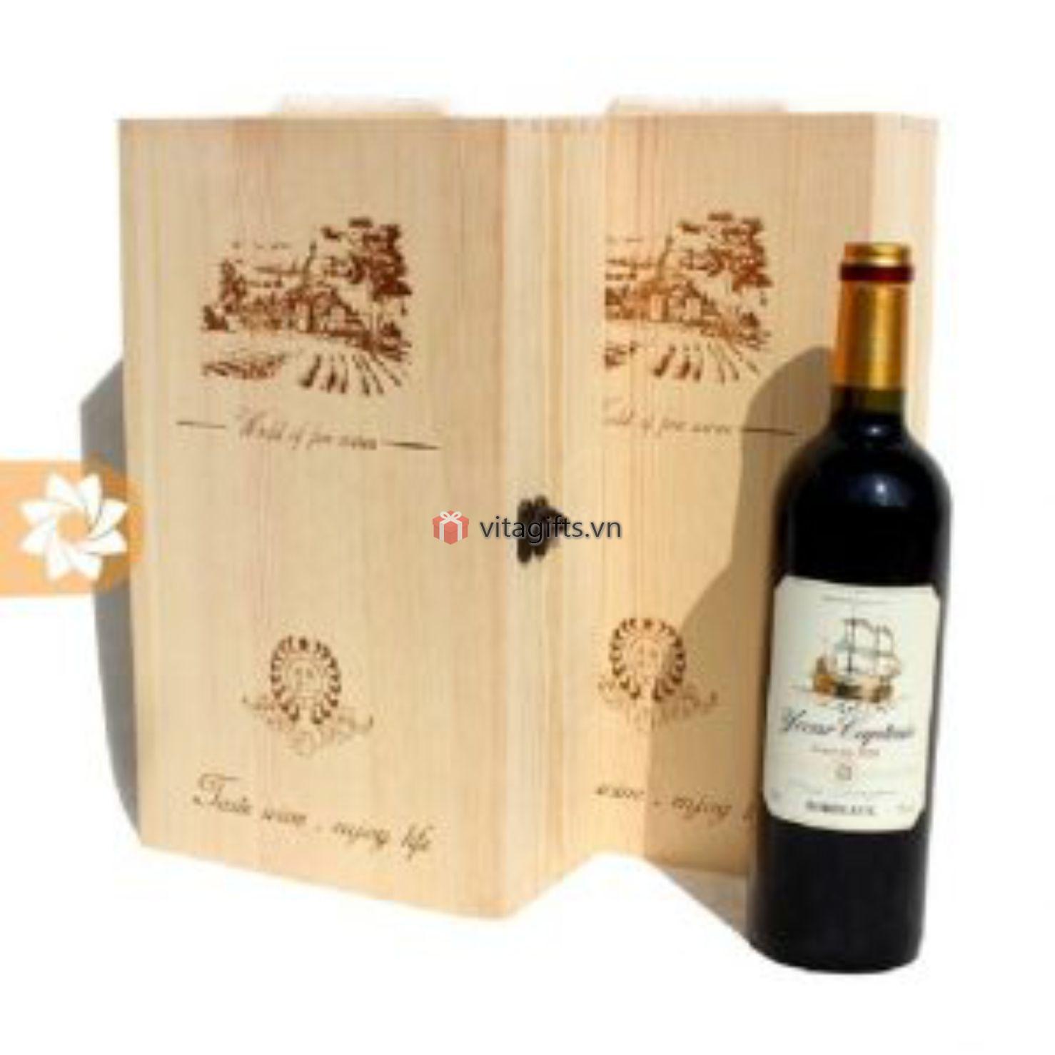 Hộp đựng rượu gỗ cao cấp